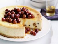 Ricotta Cheesecake with Honey Grape Topping recipe