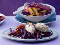 Ricotta Dumplings on Red Cabbage recipe