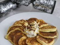 Ricotta Pancakes with Blueberry Yogurt recipe