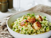 Risotto with Asparagus and Scallops recipe