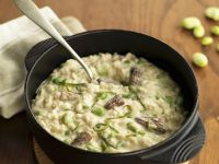 Risotto with Beans and Mushrooms recipe