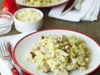 Risotto with Chicken and Mushrooms recipe