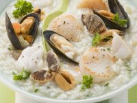 Risotto with Clams and Mussels recipe