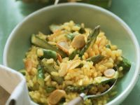 Risotto with Green Asparagus Tips recipe
