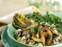 Risotto with Mushrooms and Arugula recipe