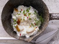 Risotto with Smoked Halibut recipe