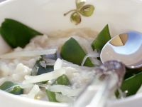 Risotto with Snow Peas recipe