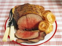 Sunday Roast with Batter Puddings recipe