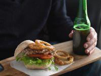 Roast Beef Sandwich with Fried Onion Rings recipe