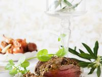 Roast Beef with Mustard and Olives Crust recipe