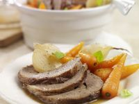 Roast Beef with Onion and Carrots recipe