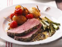 Roast Beef with Potato, Tomato and a Side Salad recipe