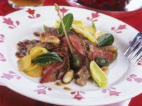 Roast Beef with Potatoes, Capers and Almonds recipe