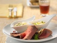 Roast Beef with Remoulade and Garlic Mayonnaise recipe