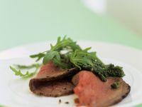 Roast Beef with Salsa Verde Dip recipe