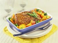 Roast Beef with Vegetable Sauce recipe