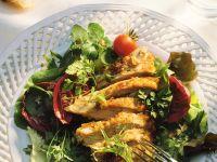 Roast Breast of Guinea Hen with Salad recipe