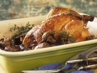 Roast Chicken and Mushrooms and Thyme recipe