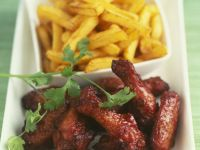 Roast Chicken Drumsticks with Chips recipe