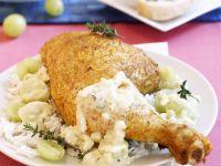 Roast Chicken Leg with Grapes recipe