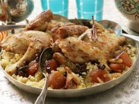 Roast Chicken with Couscous, Apricots, and Currants recipe
