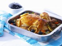 Roast Chicken with Lemons and Olives recipe