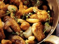 Roast Chicken with Pearl Onions and Chestnuts recipe