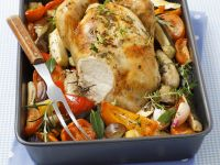 Roast Chicken with Ratatouille recipe