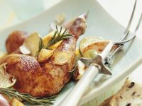 Roast Chicken with Rosemary, Limes and Potatoes recipe