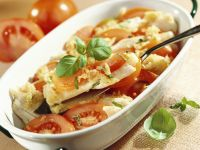 Roast Cod with Tomato and Garlic recipe