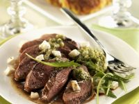 Roast Duck Breast with Arugula Pesto recipe