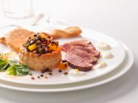 Roast Duck Breast with Lentil Tarts recipe
