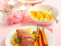 Roast Duck Breast with Oranges, Pineapple and Carrots recipe