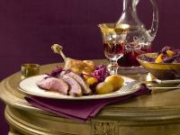 Roast Duck with Red Cabbage recipe