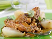 Roast Duck with Almond and Garlic Sauce recipe