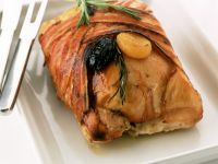 Roast Duck with Bacon and Dried Fruits recipe