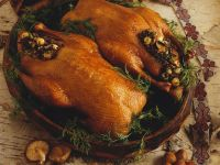 Golden Game Birds with Stuffing recipe
