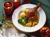 Roast Duck with Orange Sauce recipe