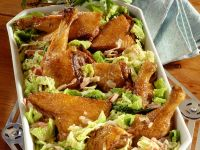 Roast Duck with Savoy Cabbage and Bacon