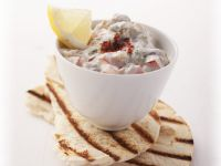 Roast Eggplant Dip with Pita recipe
