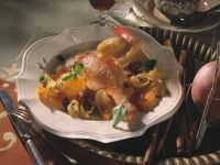 Roast Goose Legs with Oranges and Onions recipe