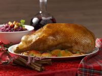 Roast Goose with Apple and Orange Stuffing recipe