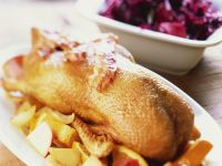 Roast Goose with Apples and Red Cabbage recipe