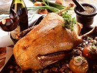 Roast Goose with Baked Apples recipe