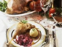 Roast Goose with Cabbage and Umplings