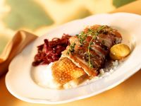 Roast Goose with Red Cabbage recipe