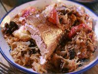 Roast Goose with Sauerkraut recipe