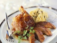 Festive Game Bird with Truffled Pomme recipe