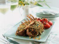 Roast Lamb with Garlic and Herb Crust recipe