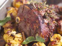 Roast Lamb with Roast Potatoes recipe